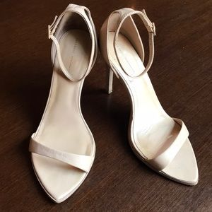 Zara 2013 barely there nude heels ankle strap